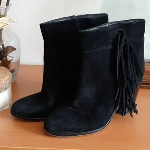 Kenneth Cole Alana Fringe Suede Booties 7